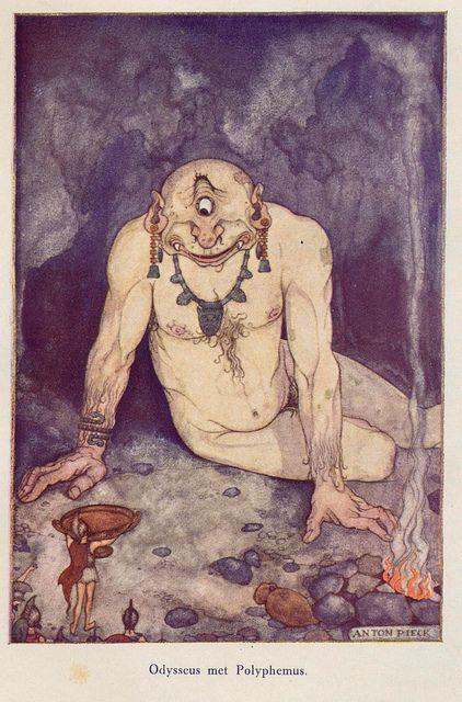 Anton Pieck Helden der mensheid 1941 ill Odysseus.