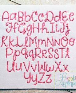 EMBROIDERY FONTS – Creative Appliques