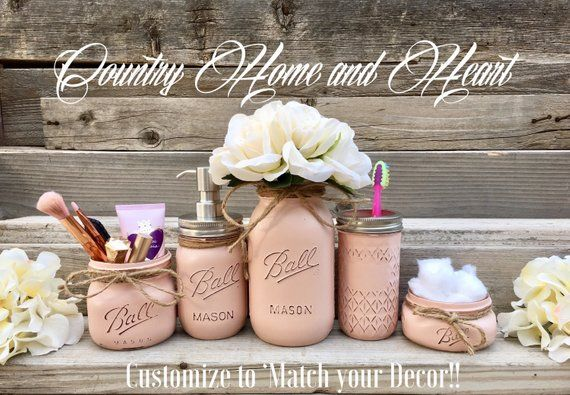 This set will add some rustic beauty to your bath or powder room. The color can … – Deko