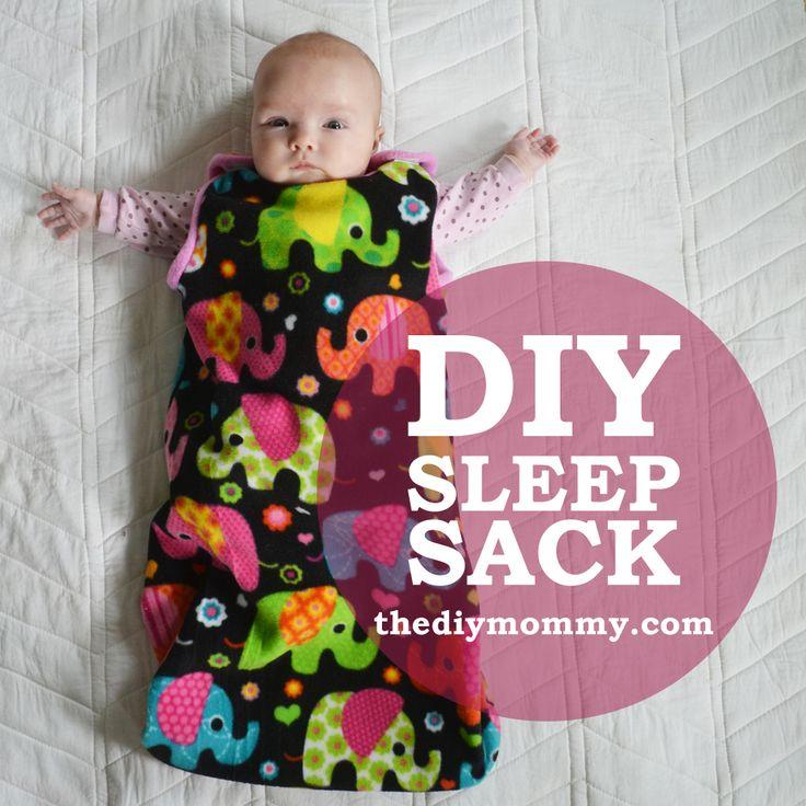 Babyschlafsack Schnittmuster und Anleitung
