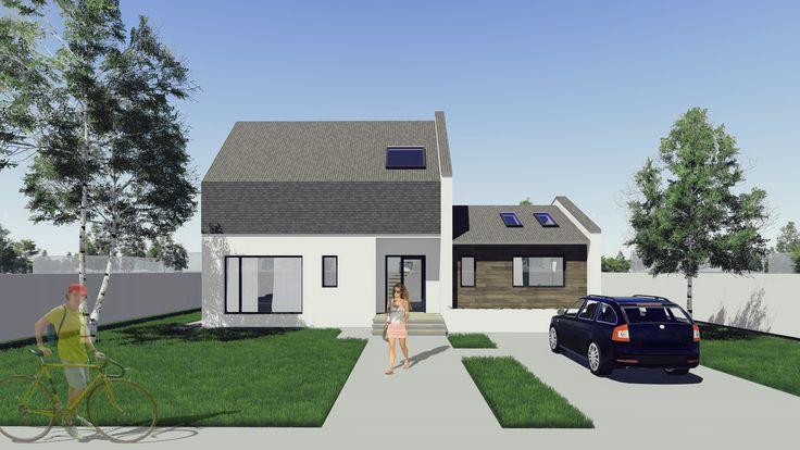 Proiect casa SAMIRA. Parter + Mansarda | 5 camere | 149mp. Mai multe detalii gasiti aici: http://www.uberhause.ro/proiect-casa-parter-mansarda-149-metri-patrati-samira