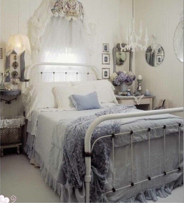 Cottage Shabby Chic Bedroom Decor. - shabby idea