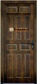 puerta de entrada rústica 10 tableros