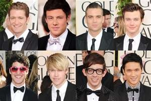 No hot guy board would be complete without the beautiful Glee men! <3