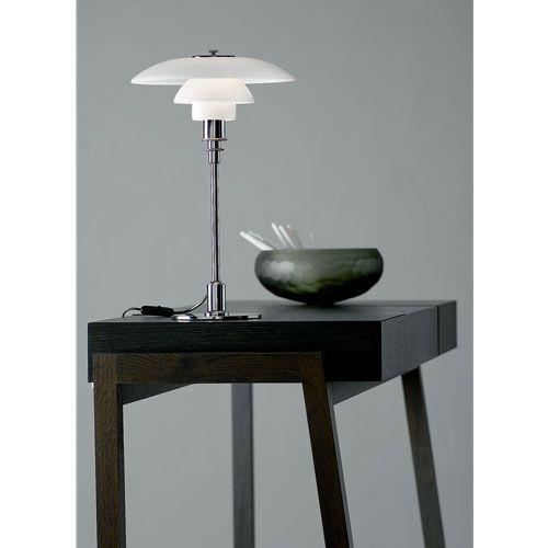 PH 3/2 bordslampa, krom i gruppen Belysning hos RUM21 AB (101021)