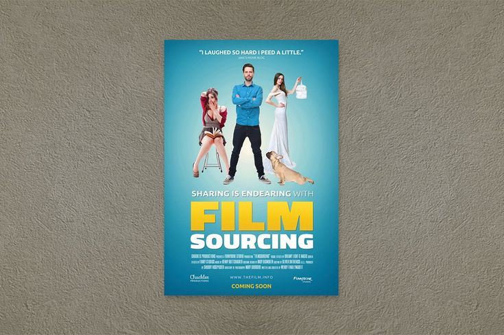 Comedy Movie Poster Template by Filmsourcing on @creativemarket