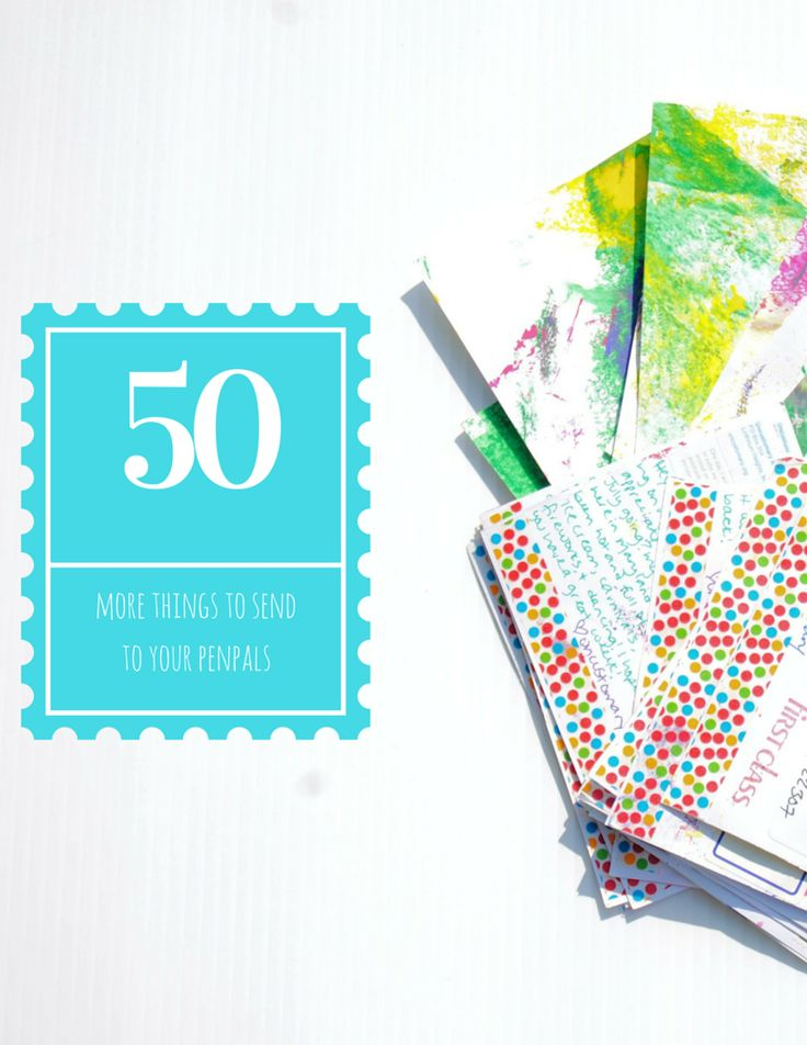 Looking for things to send to your penpals? Here's a list of 50 things you can tuck in your snail mail envelopes!