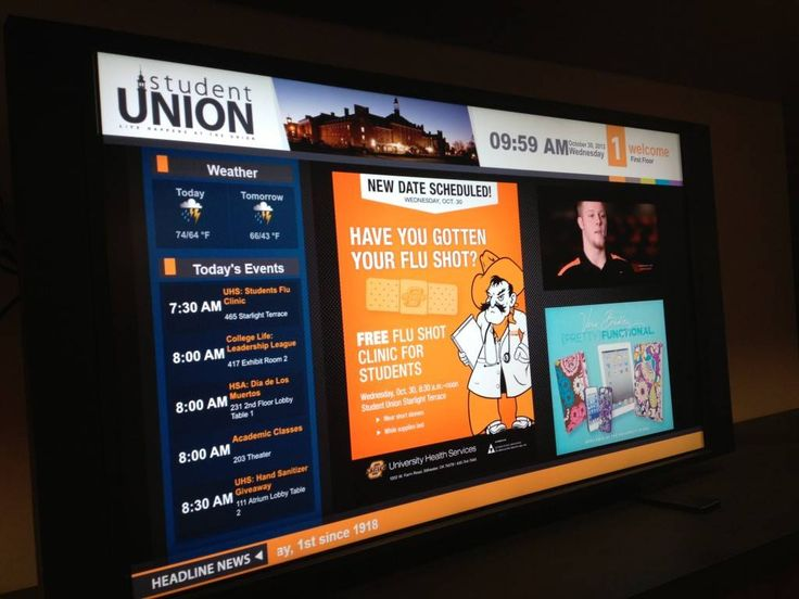 Oklahoma State University Student Union Earns #1 Ranking, Goes Digital with ConnectedSign
