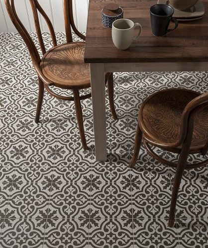Berkeley™ http://www.toppstiles.co.uk/range677/page1/berkeley.html  Inspired by the prestige of London's Berkeley Square, the traditional Victorian design is available in three on trend colours, Charcoal, Rust and Slate Blue for a contemporary twist on a classic.