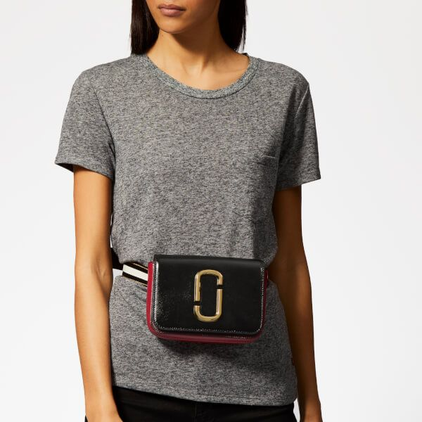 Marc Jacobs Womens XS//S Hip Shot Marc Jacobs Convertible Belt Bag French Grey Multi One Size Marc Jacobs-Women/'s Accessories