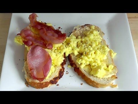 Microwave Breakfast Scrambled Eggs & Bacon - How to Cook Student