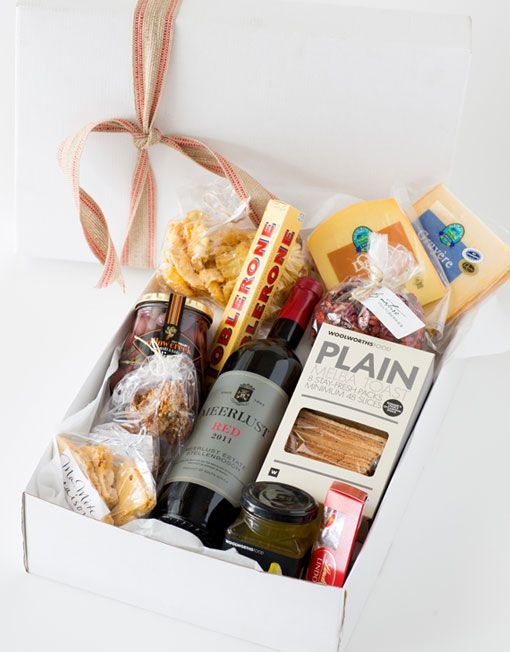 Why not send a delicious hamper to a loved one? We do male and female themes :) #hamper #snacks