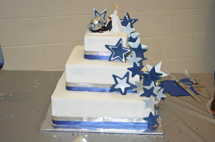 Dallas cowboy wedding cake