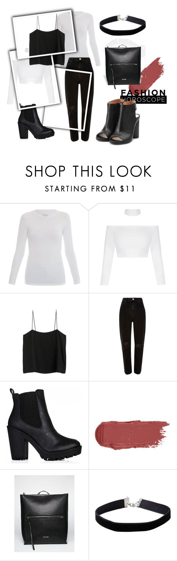 """098"" by alena-mendesh on Polyvore featuring мода, Majestic, River Island, Calvin Klein, Miss Selfridge и Maison Margiela"