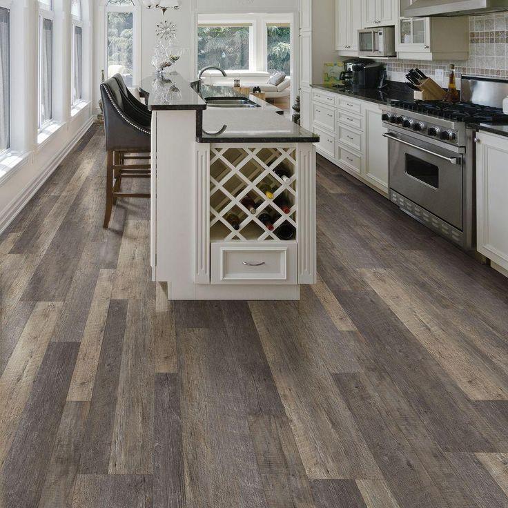 Allure ISOCORE Harrison Pine Dark Resilient Vinyl Plank Flooring - 4 in. x 4 in. Take Home Sample