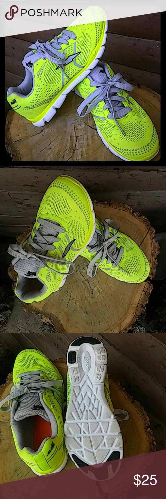 Avia Womens Brand New Neon Running Shoes Bright neon yellow and light grey Avia running shoes. Never been worn, in brand new condition. Avia Shoes Athletic Shoes