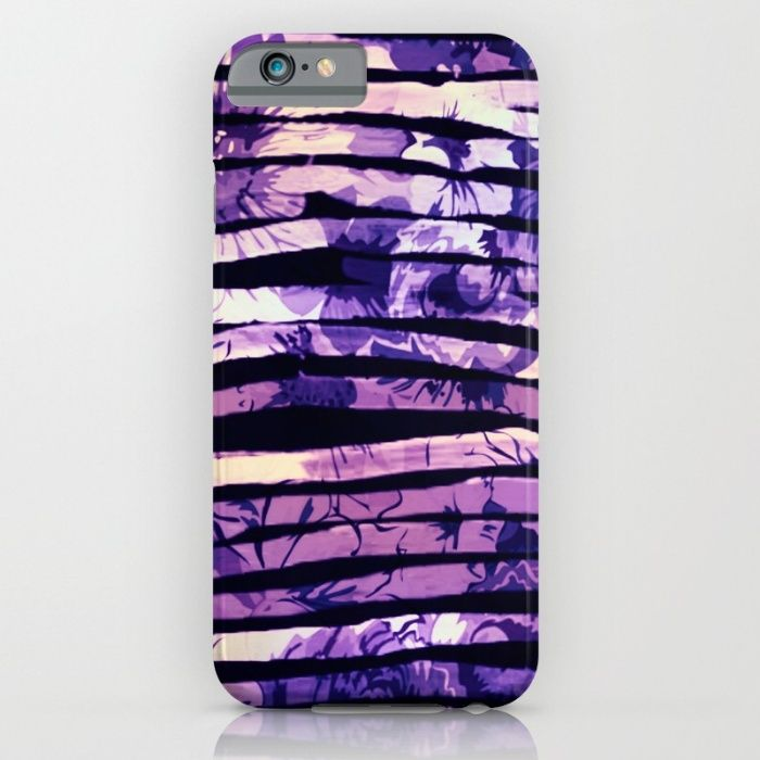purple floral stripes iPhone & iPod Case
