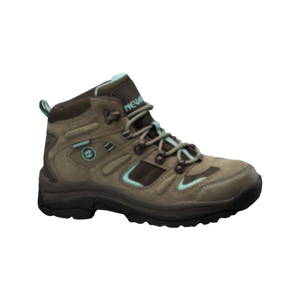 Women's Nevados Klondike WP - Shiitake Brown/Dark Chestnut/Vivid Aqua... ($40) ❤ liked on Polyvore featuring shoes, athletic shoes, laced shoes, hiking boots, cushioned shoes, athletic footwear and nevados shoes