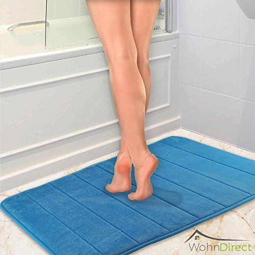 From 25.95 Fragranced Bath Mat | Non Slip Anti-slip Washable | Modern Quick Drying Microfiber Shower Floor Mat | Offers Grip Comfort And Safety For Your Bathroom - Fluffy & Soft | 50 X 80 Cm - Blue