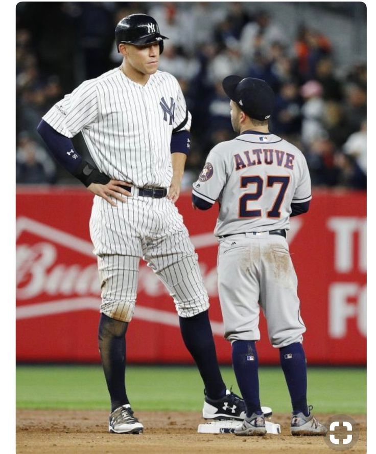 Aaron Judge (Yankees) and Jose Altuve (Astros) ALCS (2017)