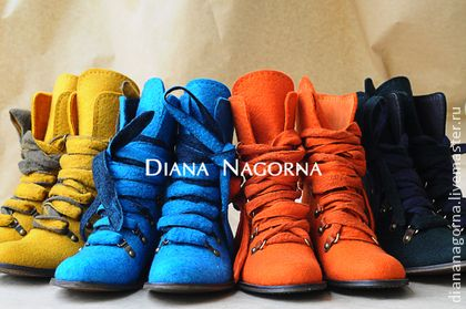 Felt boots, handmade.  Well keep their shape. Stylish, warm and comfortable