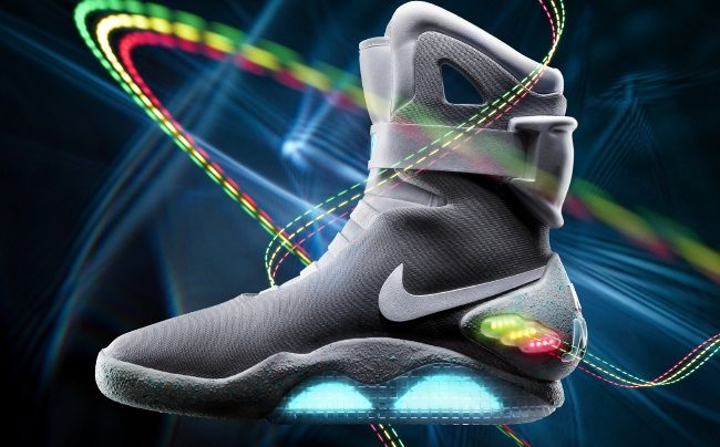 """NIKE HAS CONFIRMED IT!! MARTY MCFLY'S SHOES WILL GO ON SALE TO THE PUBLIC IN 2015 AND, YES, THEY WILL HAVE POWER LACES! Holy sh*t, holy sh*t, holy sh*t… I'm like a school girl right now! And now, I wasn't kidding about the power laces. Tinker Hatfield (nice), the designer of the shoe took and interview with the shoe website Sole Collector and had this to say, """"Are we going to see power laces in 2015? To that I say, YES!"""" To those of you that don't remember, NIKE released a limited amount of…"""