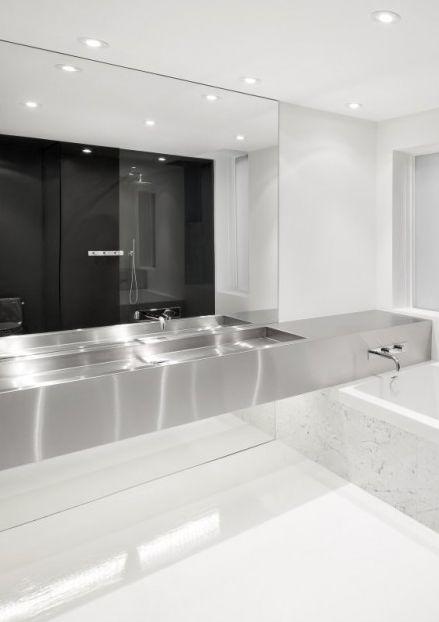 Bathroom inside the Espace Saint Denis by Anne Sophie Goneau _