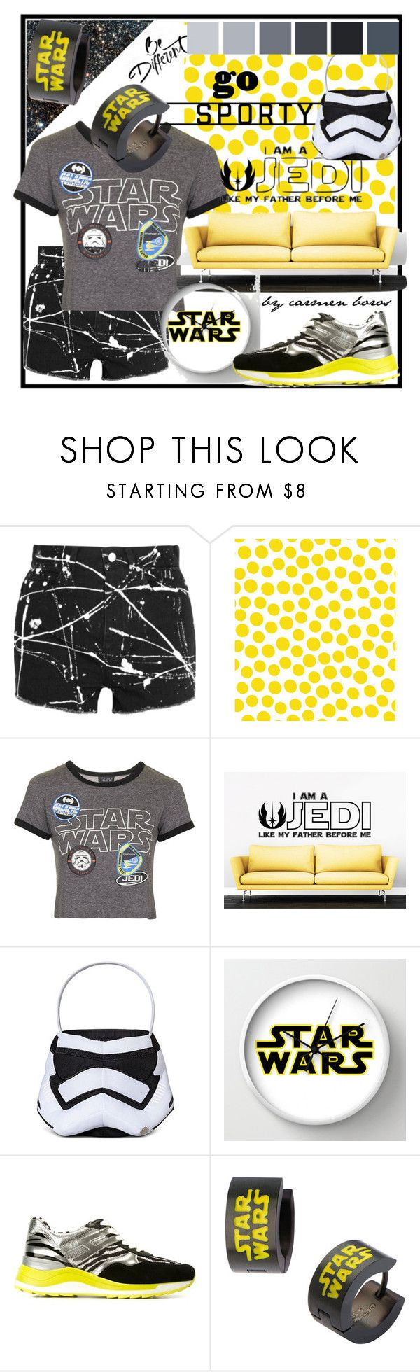 """star wars  ..."" by boroscarmen ❤ liked on Polyvore featuring Yves Saint Laurent, Jennifer Paganelli, Topshop and Hogan Rebel"