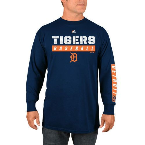 MLB Detroit Tigers Navy Proven Pastime Long Sleeve T-Shirt