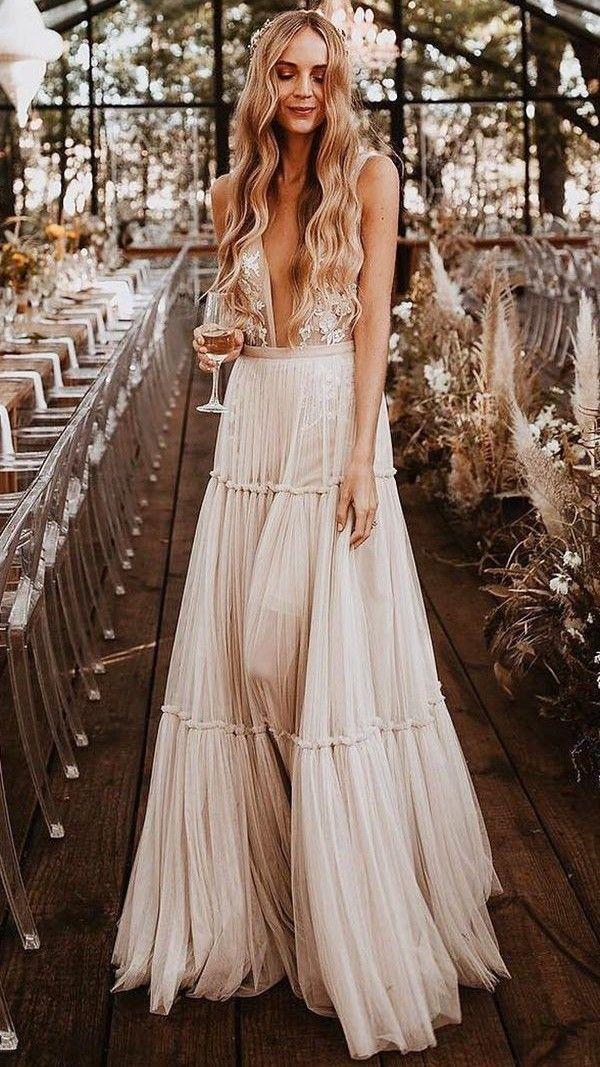 32+ Beige boho wedding dress ideas in 2021