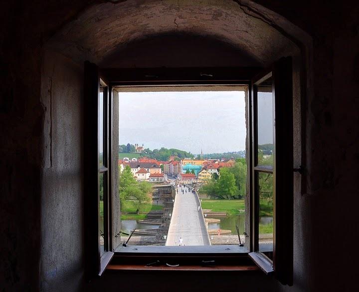 Blick aus dem Brückenturm - Steinere Brücke Regensburg