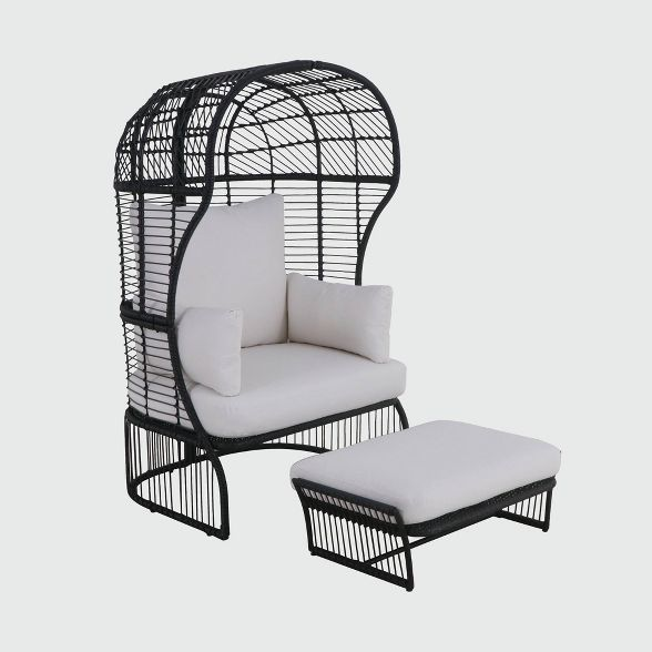 patio egg chair with ottoman project