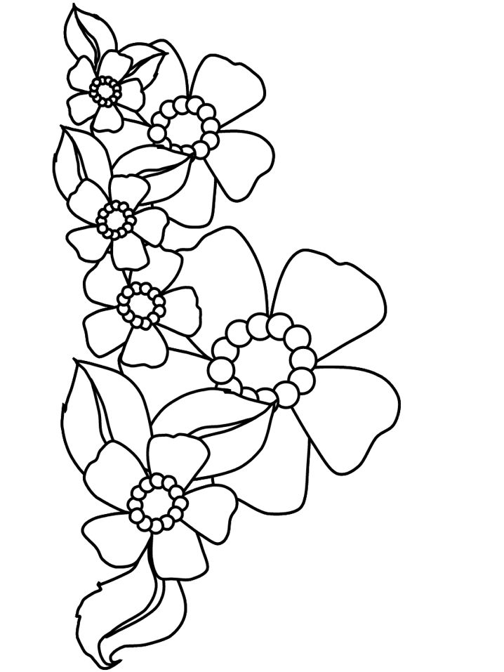 Free Colouring Pages Flowers Printable : 27 best images about coloring sheets for kids on pinterest