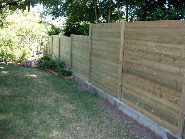 palissade bois palissades bois palissade jardin terrasse jardin  ~ Cloture Bois Design