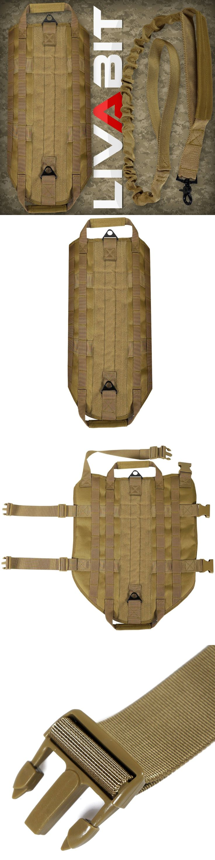 Harnesses 66783: Livabit Tan Police K9 Dog Tactical Molle Vest Harness + Leash X-Large -> BUY IT NOW ONLY: $43 on eBay!