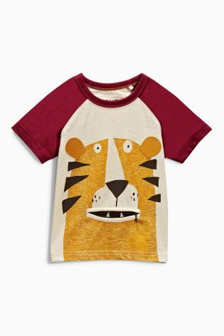 Buy Lion Zip Mouth Short Sleeve T-Shirt (3mths-6yrs) online today at Next: United States of America
