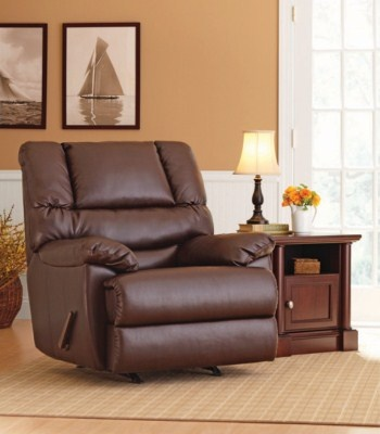 Dorel Asia | Deluxe Recliner - Brown Faux Leather