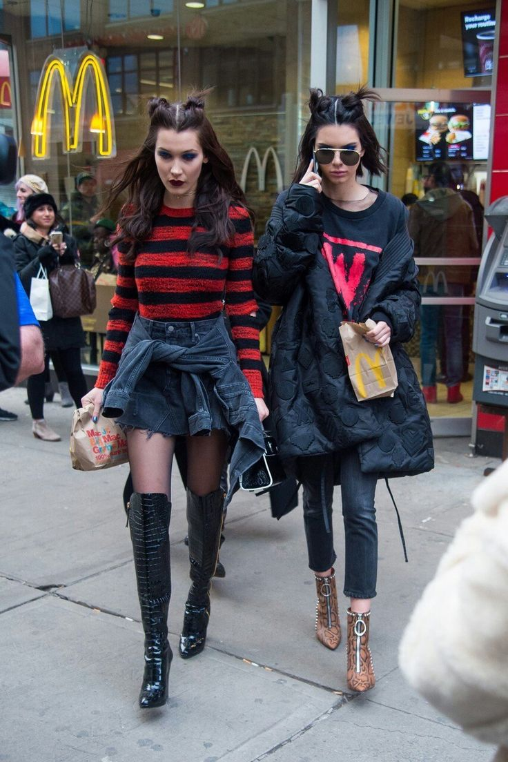 This is so cute! Bella H. and Kendall J. got their funky look and dropped by to the nearest McDonald's