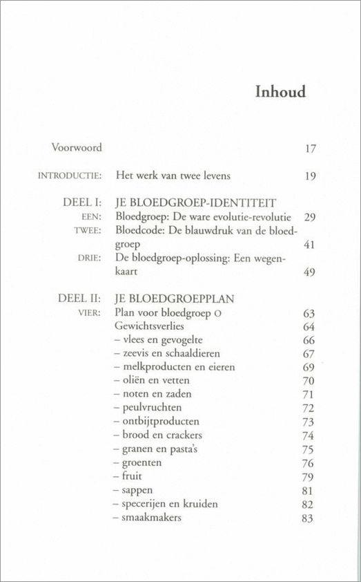 bol.com | Het bloedgroep-dieet, Peter D'Adamo | 9789032506278 | Boeken