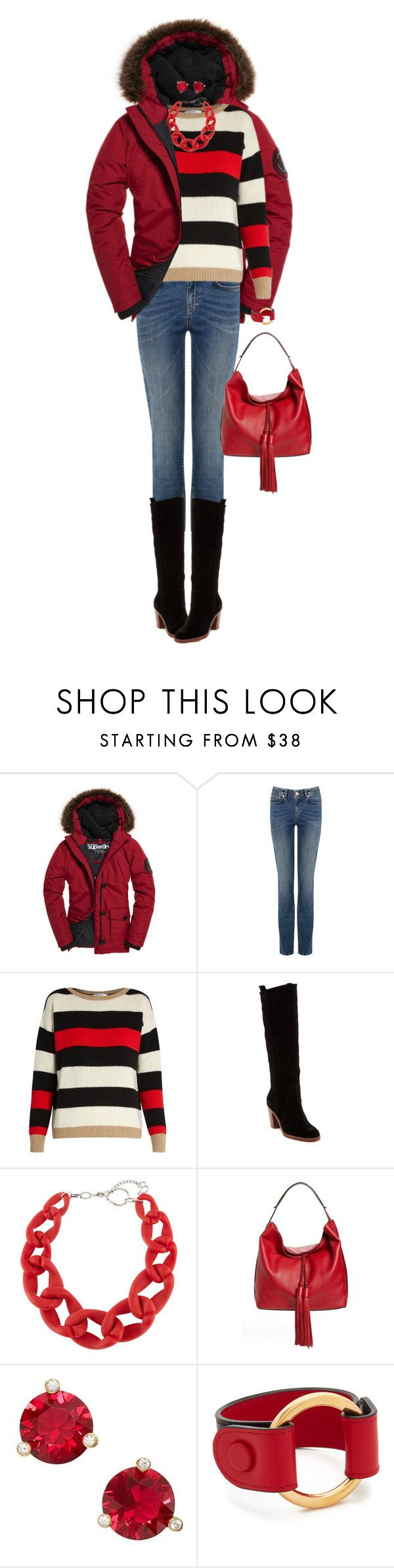 """Warm Winter Coat"" by ittie-kittie ❤ liked on Polyvore featuring Superdry, MaxMara, Matt Bernson, DIANA BROUSSARD, Rebecca Minkoff, Kate Spade and Marni"