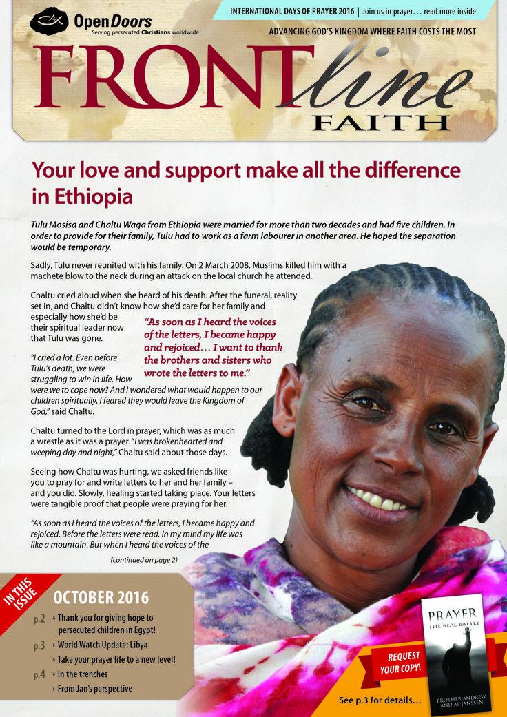 Frontline Faith Magazine - October 2016