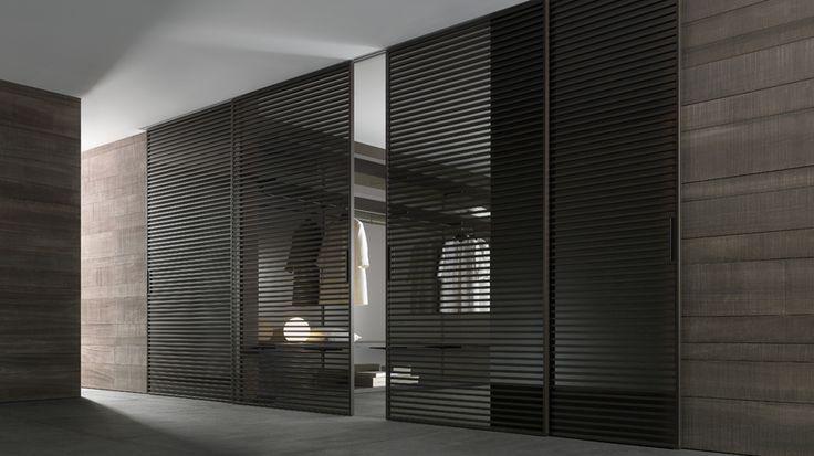 struttura alluminio brown e vetro trasparente grigio