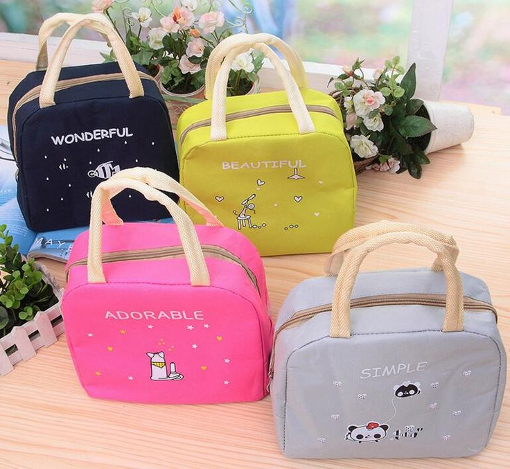 M684 Cute Cartoon Lunch Bag Cartoon Fish Large Capacity Lunch Bag Lasting Insulation Bag Cloth Heavy Canvas Bag Wholesale