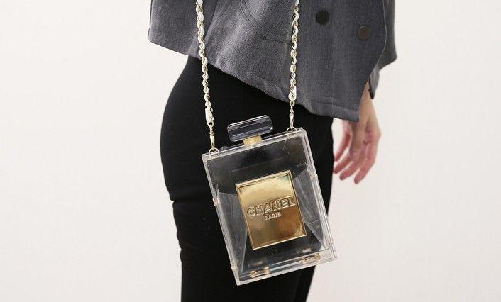 yves saint laurent messenger bag - Chanel No. 5 Perfume Bottle Clutch Replica via shopdreamdust.com ...