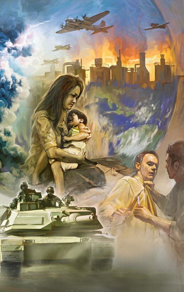 """Matteus 24:7 - """"Ty nation skall resa sig mot nation och kungarike mot kungarike, och det skall vara hungersnöd och jordbävningar på den ena orten efter den andra. Allt detta är början till nödens våndor."""""""