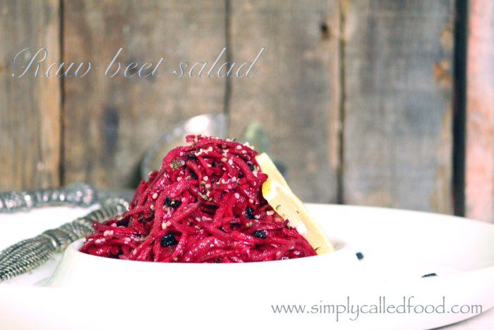 Raw Beet Salad with Mint & Basil: Beets Noodles, Summer Salad Recipes, Call Food, Food Raw, Beet Salad, Raw Beets, Beets Salad Ar, Noodles Salad, Refreshing Raw