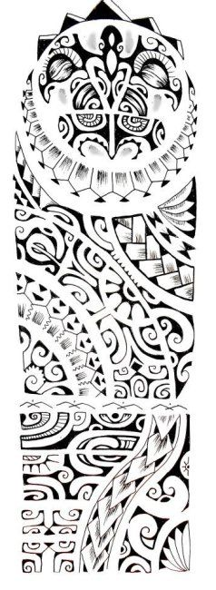 polynesian designs and patterns | Spine Tattoo Design for Men of Maori Polynesian Design and Pattern
