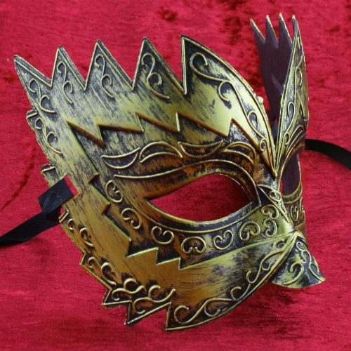 Gold Titan Mens masquerade mask burnished Venetian eye mask masked ball Male in Clothes, Shoes & Accessories, Fancy Dress & Period Costume, Accessories   eBay