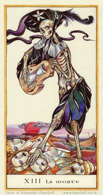 La Morte (Death), by Alexander Daniloff, the Alexander Daniloff Tarot.