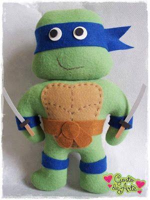 Feltro Fácil: Tartarugas Ninjas em Feltro!
